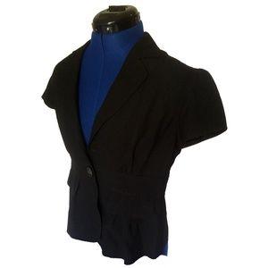 Michael Kors Short Sleeve Black Blazer Top size 4